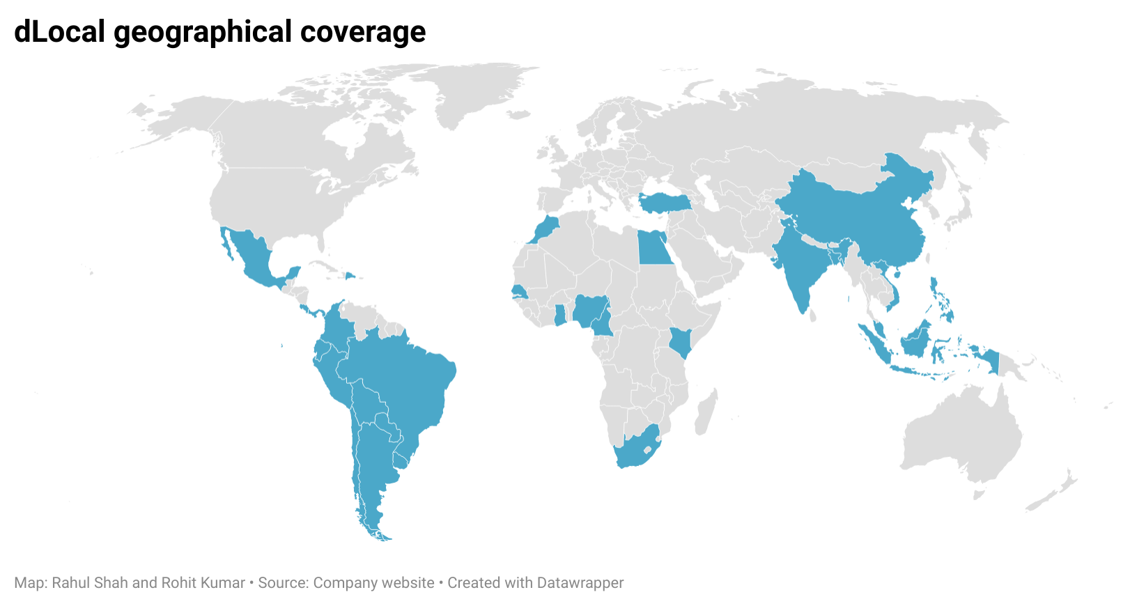 dLocal geographical coverage