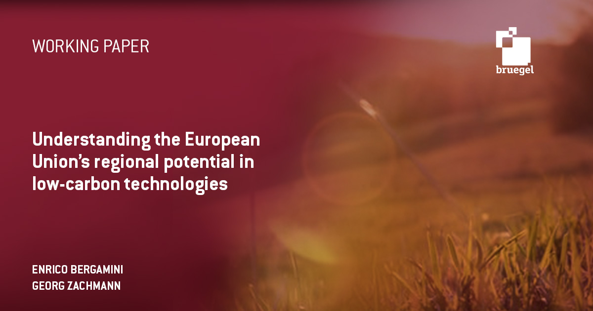 Understanding the European Union's regional potential in low-carbon technologies