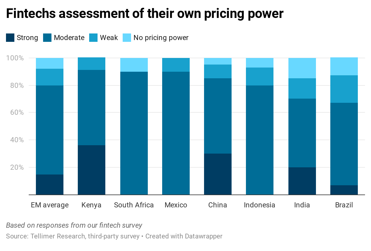 Fintechs assessment of their own pricing power